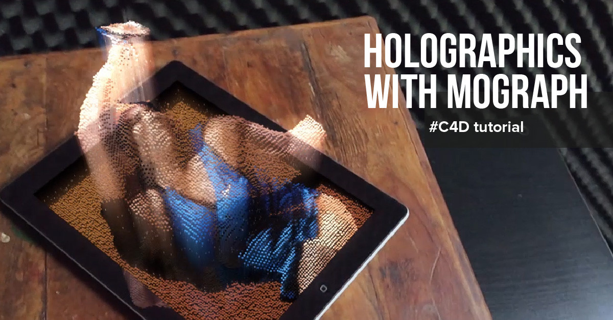 Holographic Mograph Animation Tutorial in Cinema 4D | 6 Steps | Call