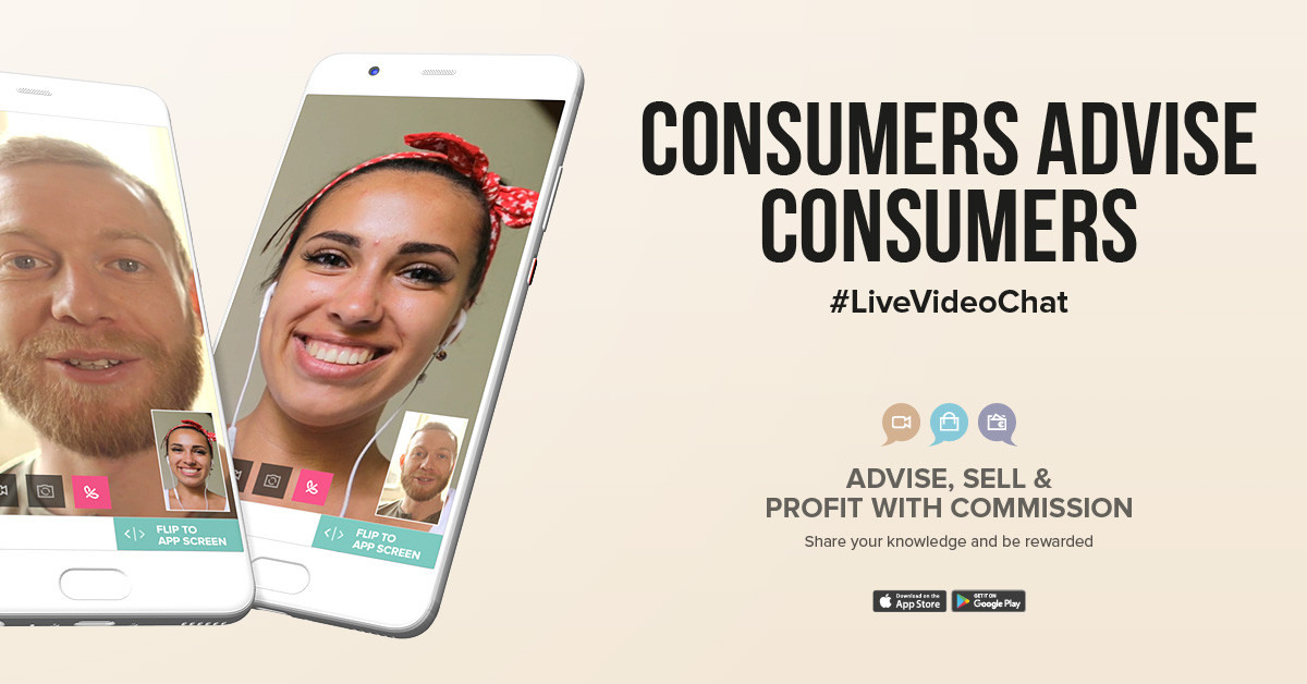 consumers advice consumers via live video calling