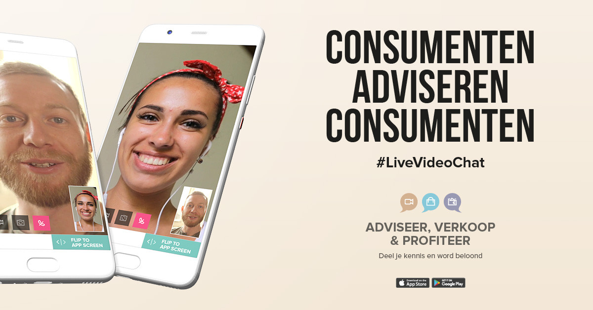 consumenten adviseren consumenten via live video chat