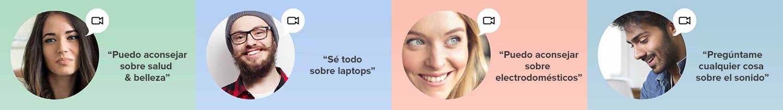 Asesoramiento a los consumidores a través de video chat en vivo