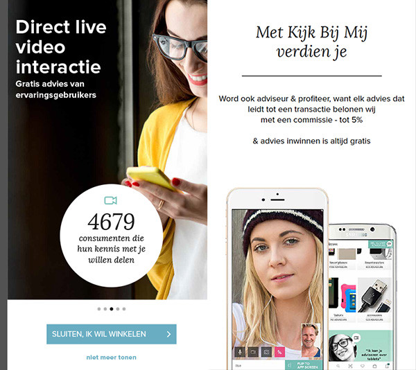 direct live video interactie