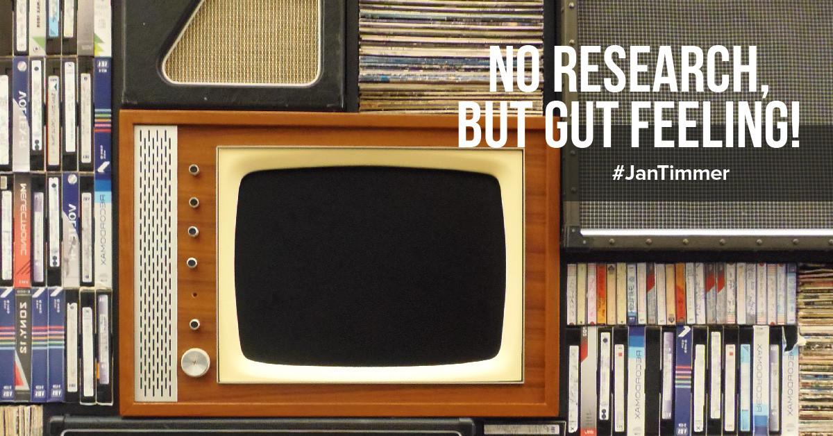 Listen to your gut feeling! What we can (not) learn from Jan Timmer