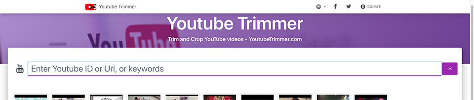 Youtubetrimmer pour les films YouTube