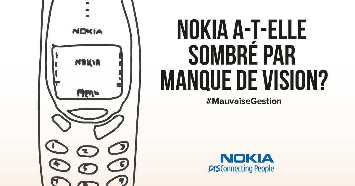Nokia a-t-elle sombré par manque de vision?