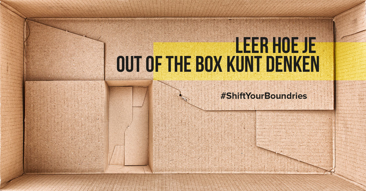 Leer hoe je out of the box kunt denken