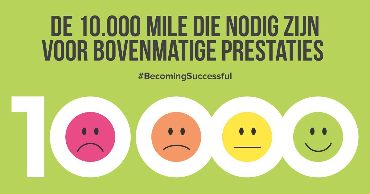 De 10.000 miles die nodig zijn voor bovenmatige prestaties