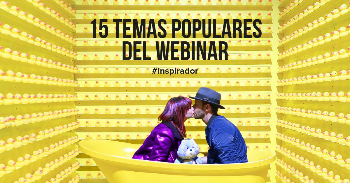 15 temas populares e inspiradores para el seminario web