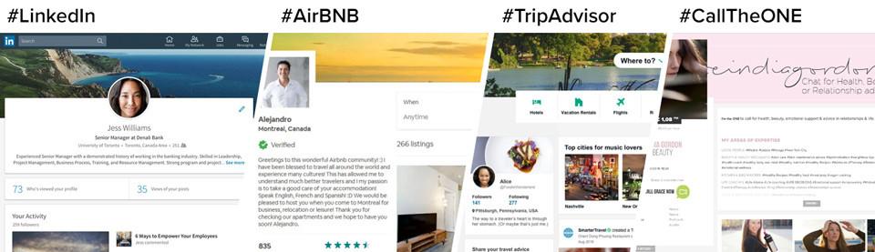 Linkedin, Airbnb, Tripadvisor Calltheone SEO showcase