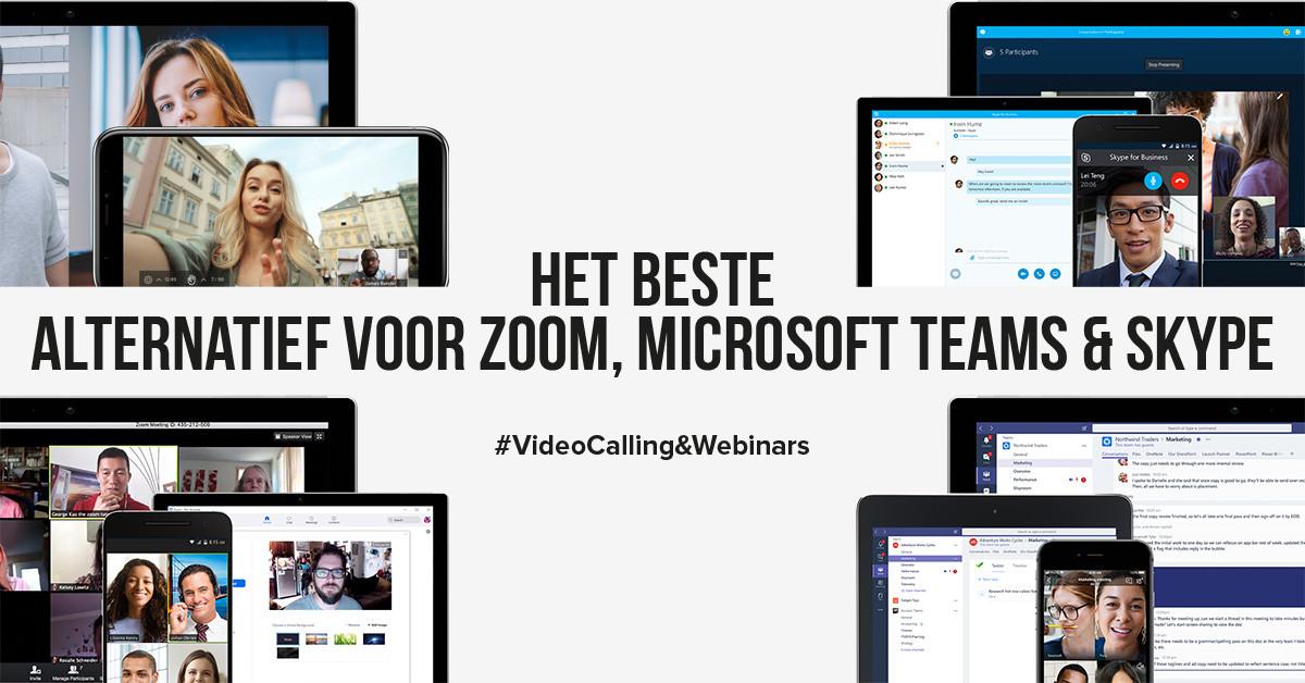 Het beste alternatief voor Zoom, Microsoft teams en Skype