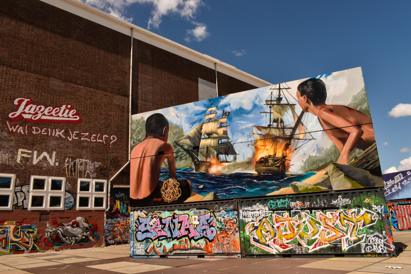 battleship-street-art-in-amsterdam