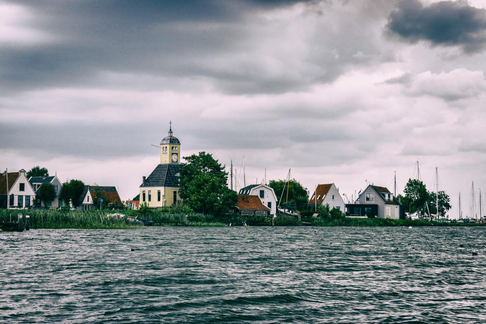 Durgerdam village seen from the water