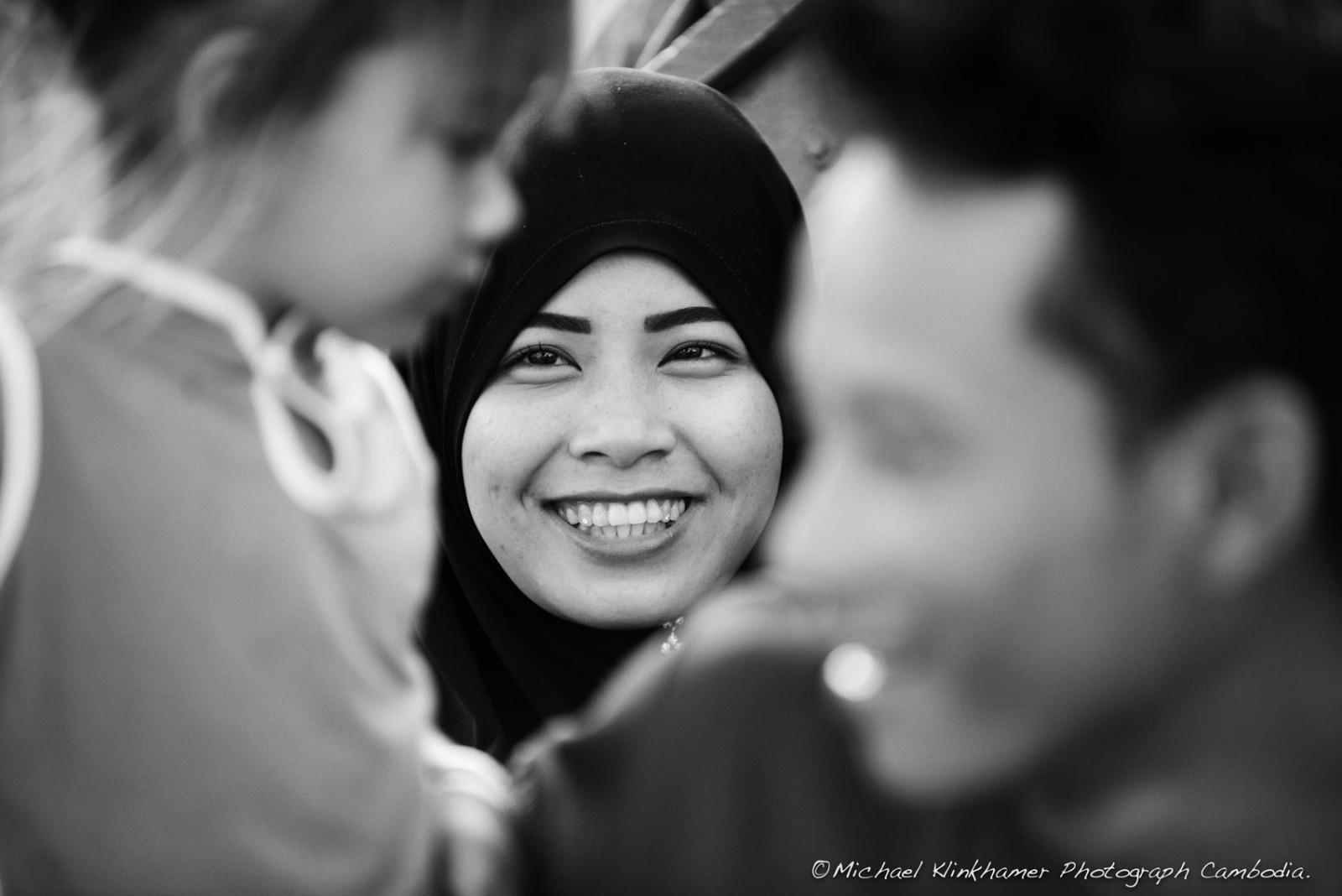 Cham family smiling