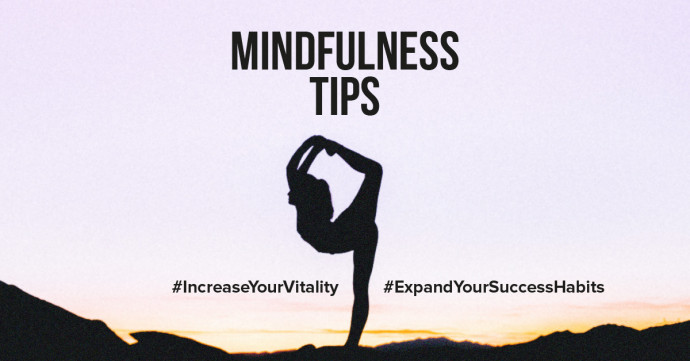 Mindfulness tips to increase your vitality and expand your success habits in daily life