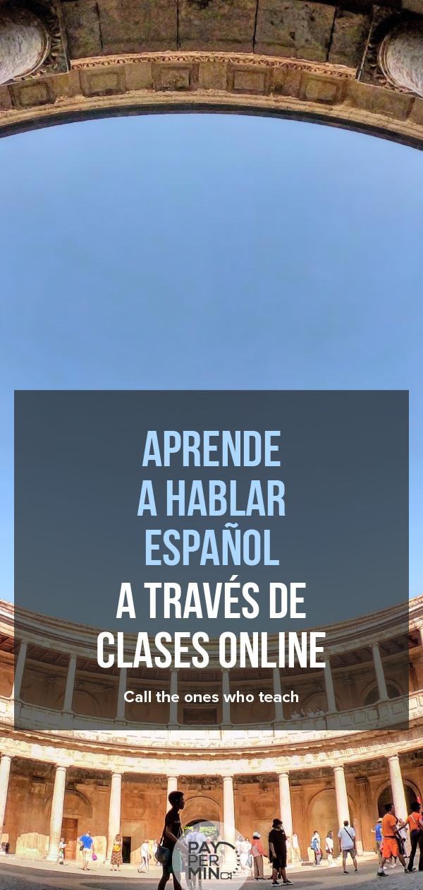 Aprende a hablar español a través de clases online