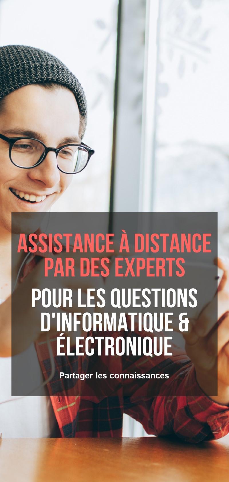 Assistance à distance par des experts en informatique et électronique