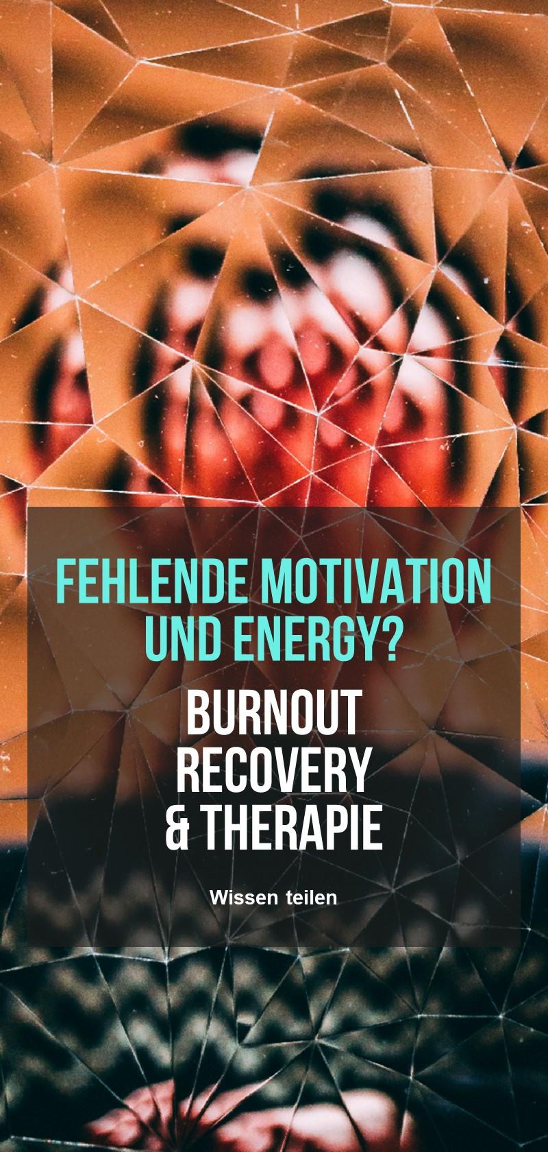 Wiederherstellung und Behandlung von Burnout