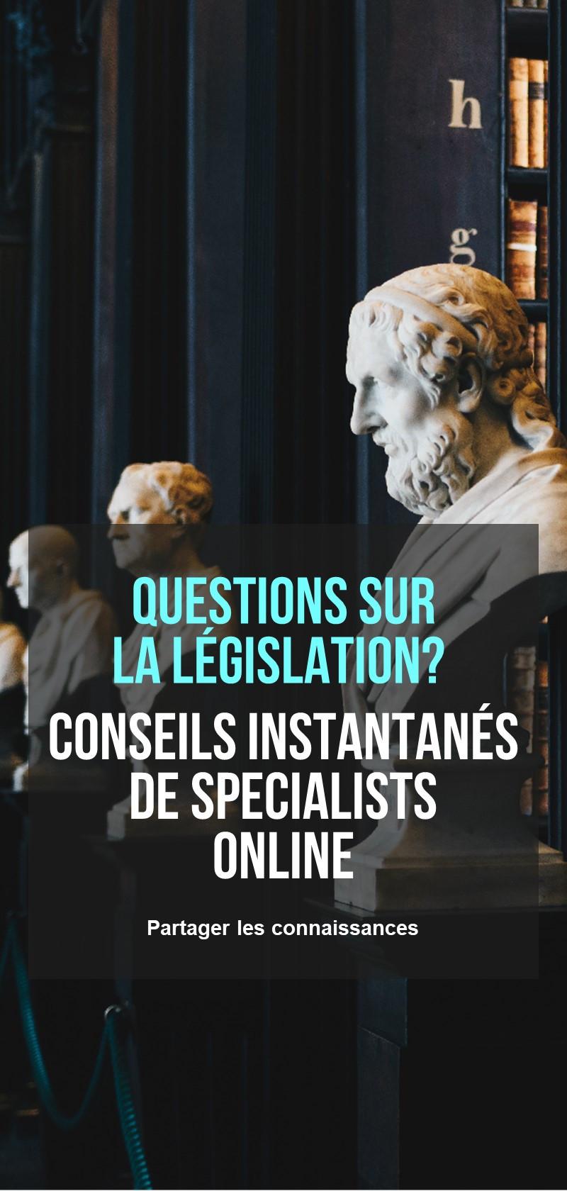 Conseillers juridiques en ligne