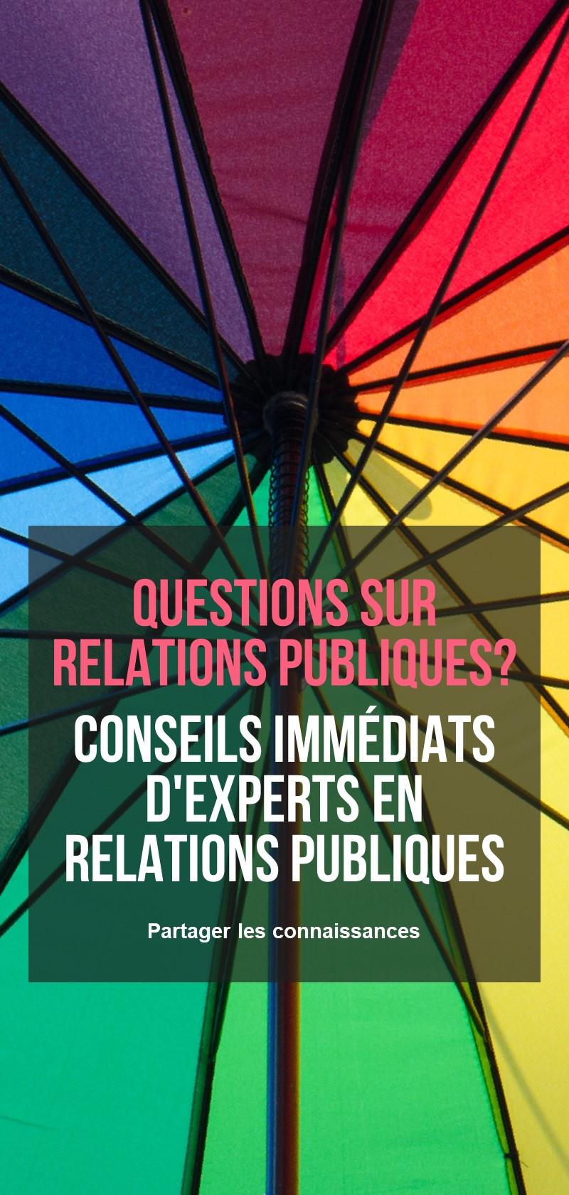 Consultation et conseils en relations publiques