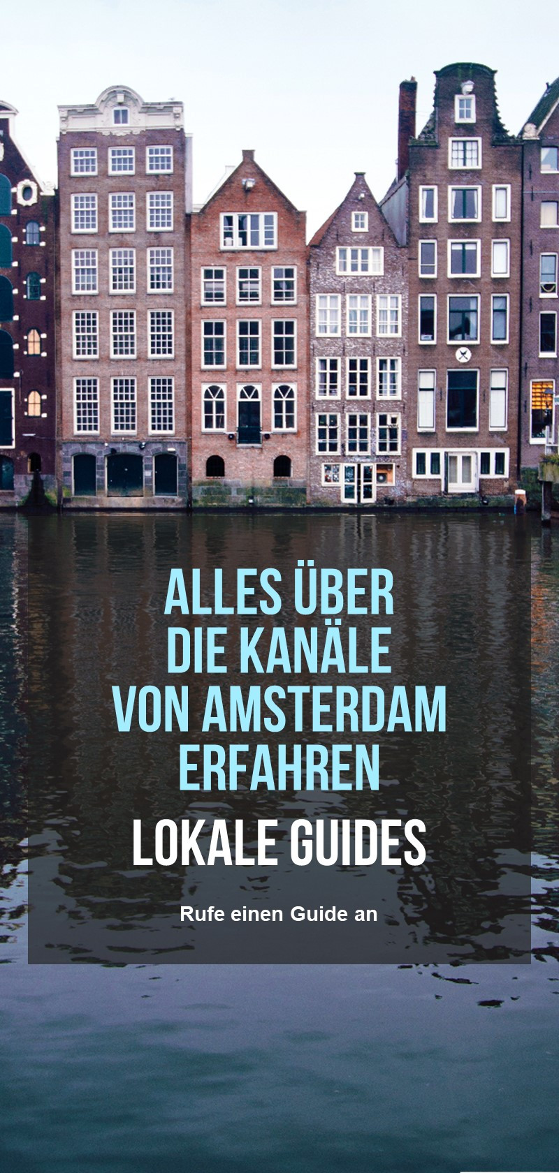 Informationen über die Kanäle von Amsterdam
