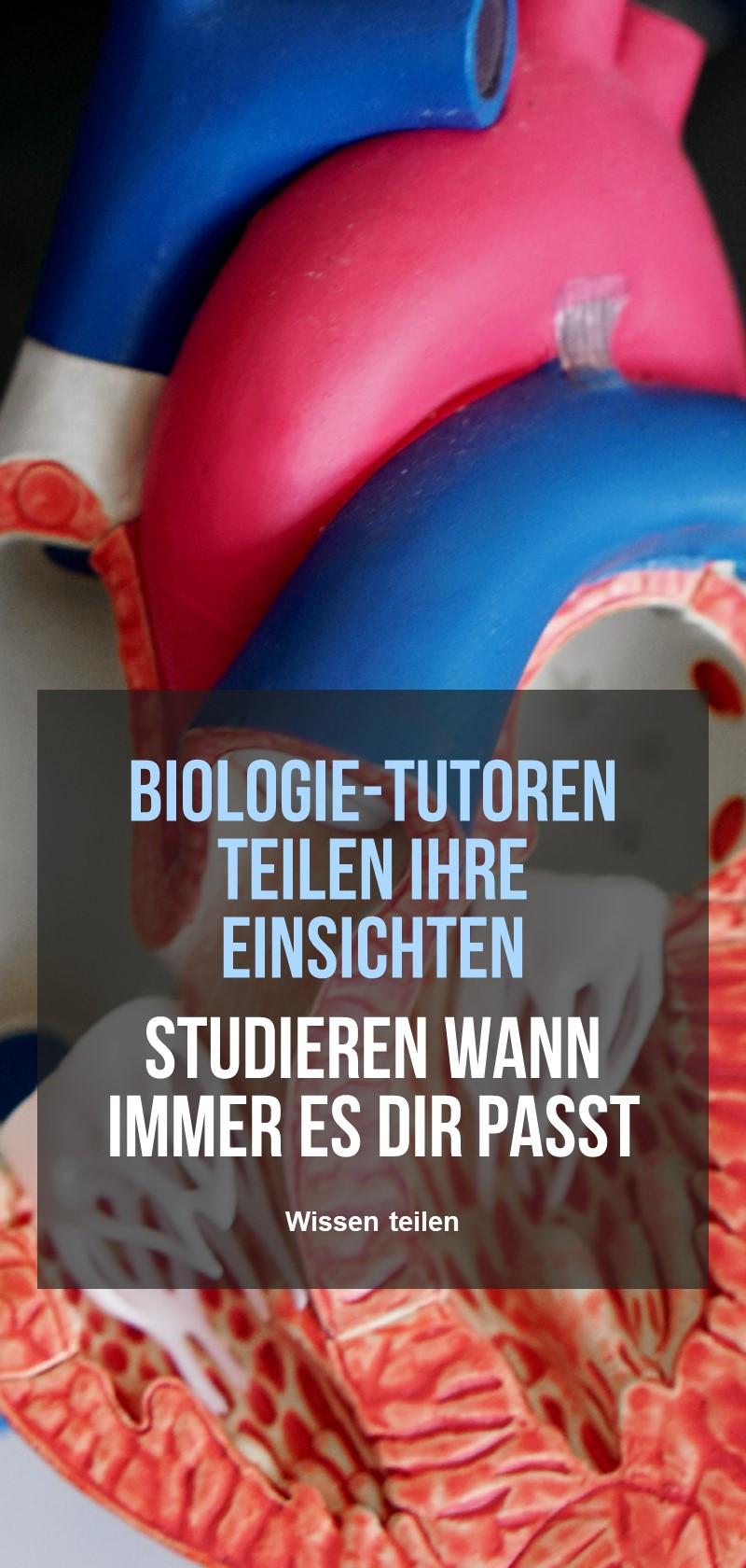 Lehrernachhilfe in Biologie