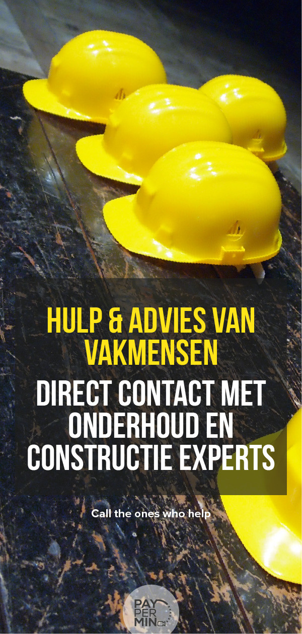 Advies van een klusjesman, bouwkundige of constructie specialist