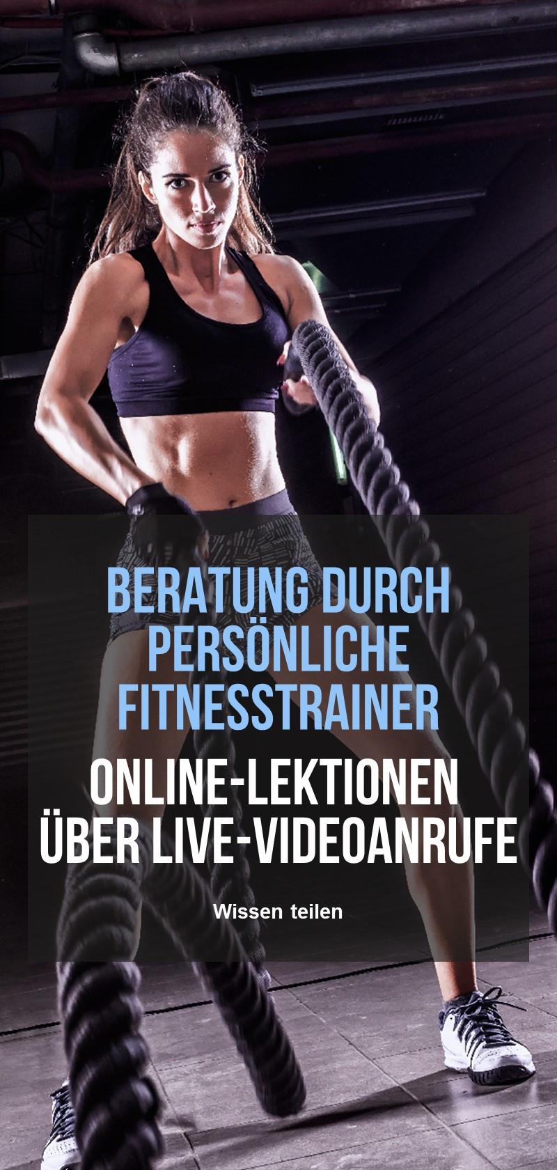 Persönliche Online-Fitness-Trainer