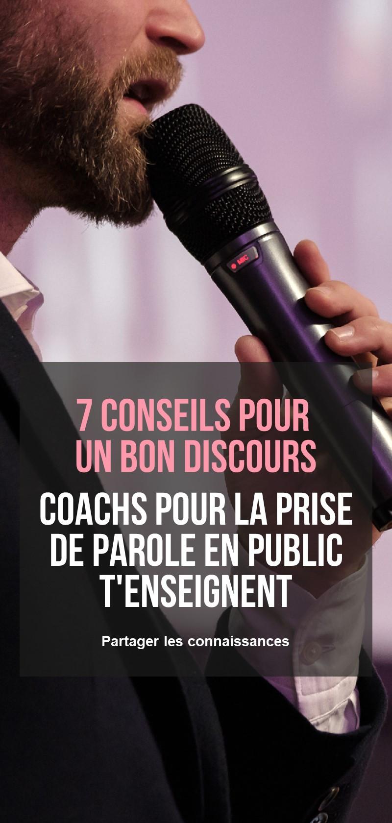 Coachs pour la prise de parole en public