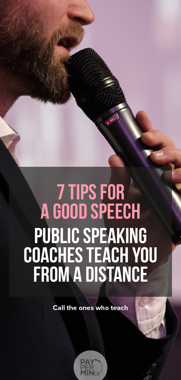 Public speaking tips and techniques