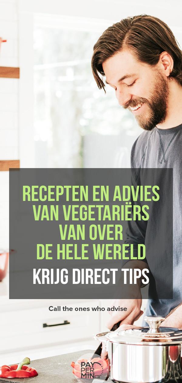 Recepten en advies van vegetariërs