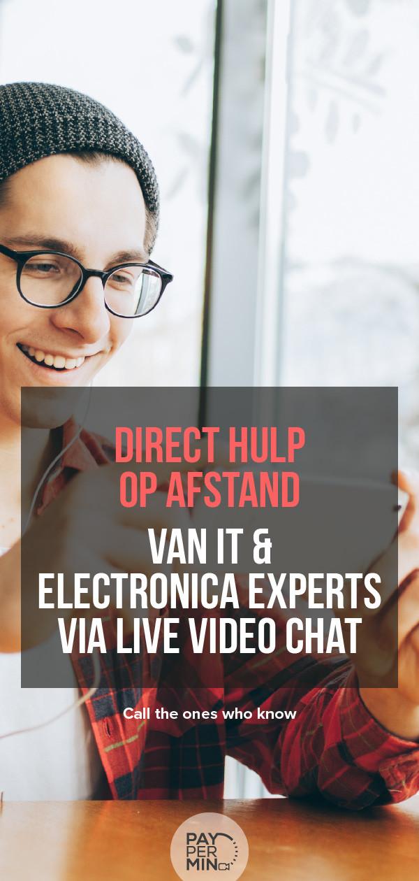 Online hulp op afstand van IT & Electronica experts