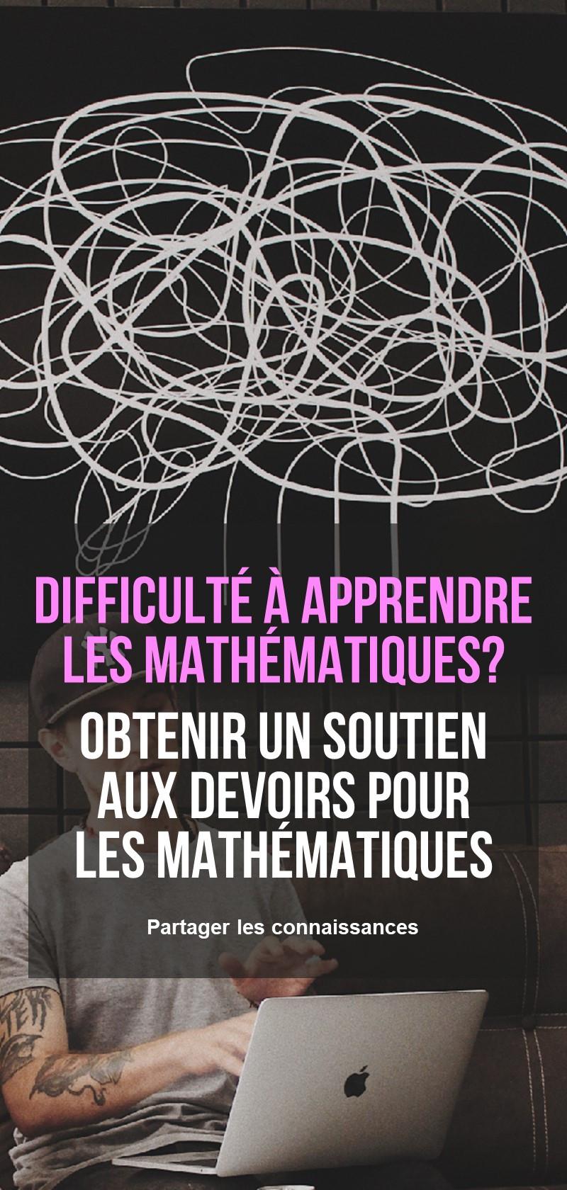 Soutien aux devoirs pour les mathématiques